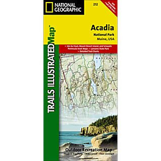 Acadia National Park - National Geographic Map