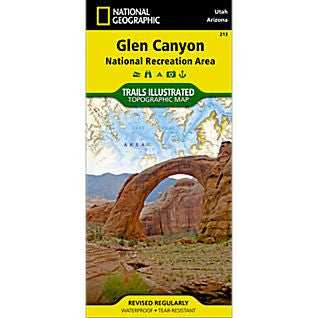 Glen Canyon National Rec. Area - National Geographic Map