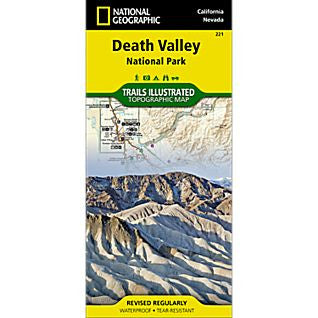 Death Valley, CA - National Geographic Map