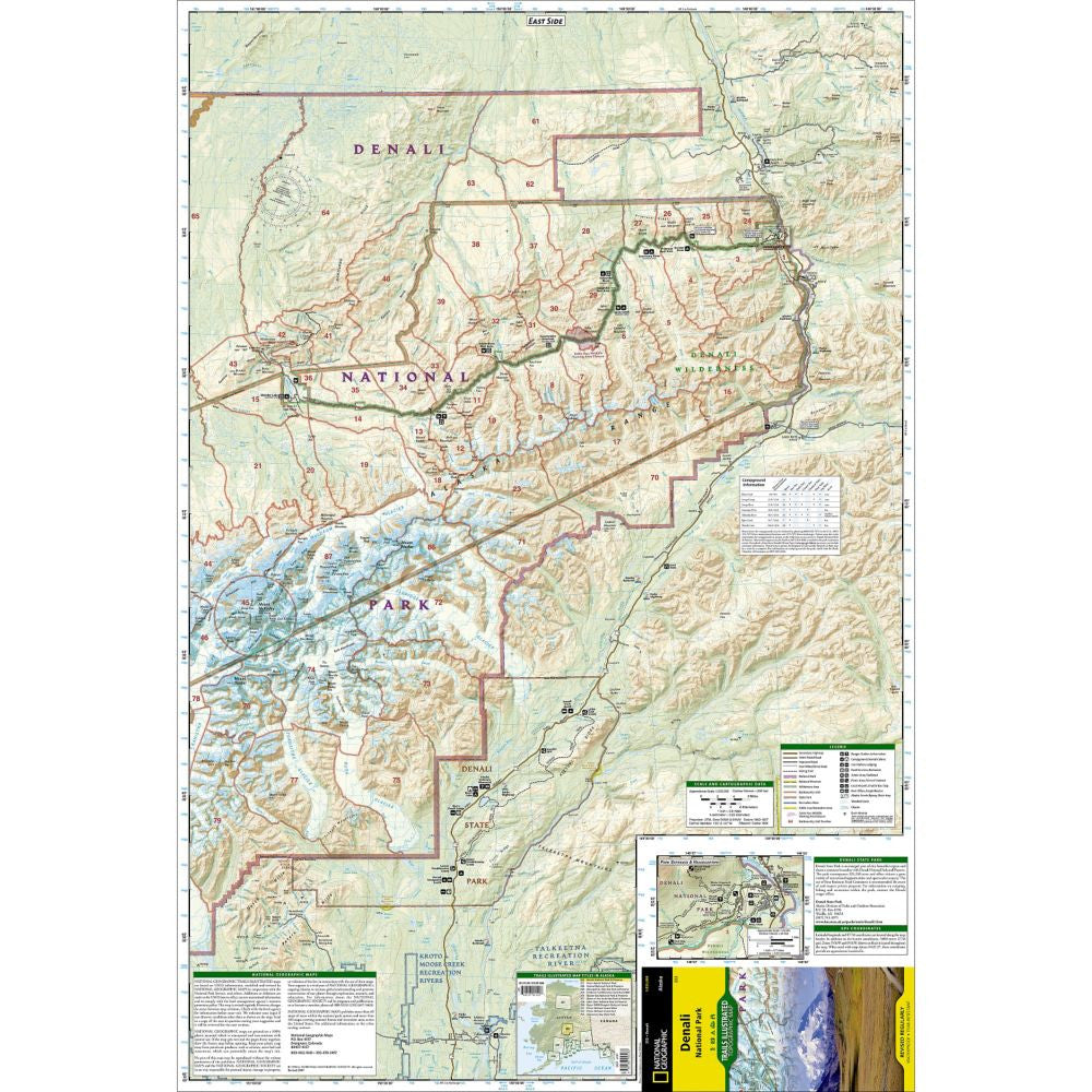 Denali National Park - National Geographic Map