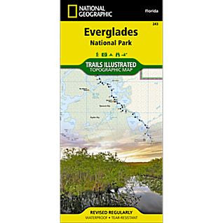 Everglades National Park, FL - National Geographic Map