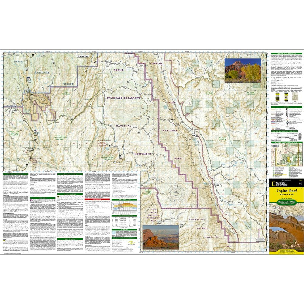 Capitol Reef National Park - National Geographic Map