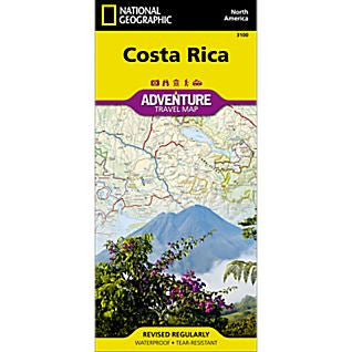 Costa Rica Adventure - National Geographic Map