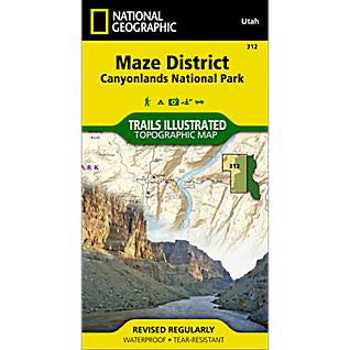 Canyonlands-Maze/NE Glen Canyon, UT - National Geographic Map