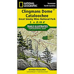 Clingmans Dome/Cataloochee - National Geographic Map