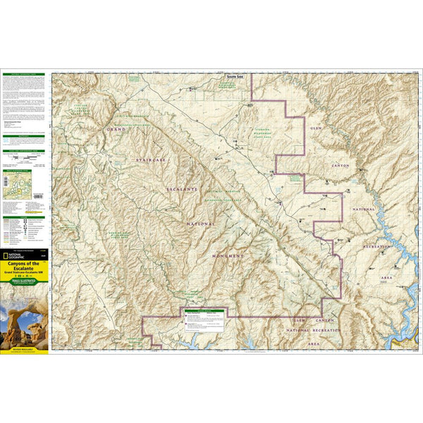 Escalante Canyons - National Geographic Map
