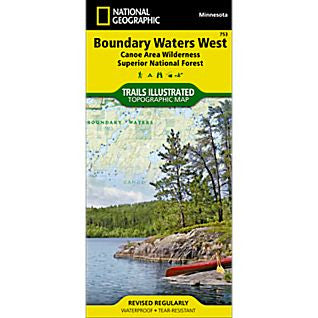 Boundary Waters West - National Geographic Map