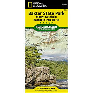 Baxter State Park/Mount Katahdin - National Geographic Map