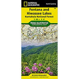 Fontana and Hiwassee Lakes - National Geographic Map