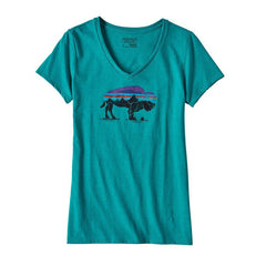 W's Fitz Roy Bison Cotton/Poly V-Neck Tee
