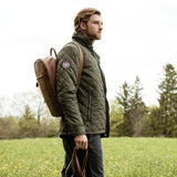 Model Wearing Roots73® Cedarpoint Men's Jacket Green