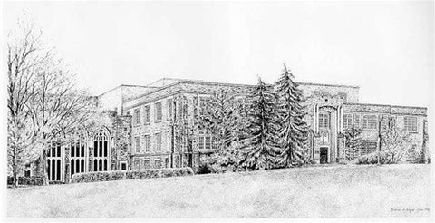 Ivey Main Campus Black and White Print