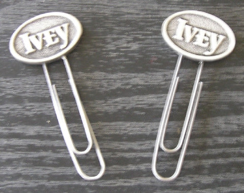 Ivey Paperclip Bookmark