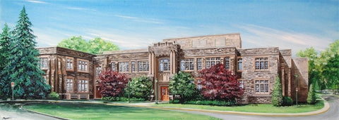 Ivey Main Campus Print, Unframed