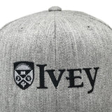 Ivey Adjustable Snapback Hat Cap Heather Grey Zoom