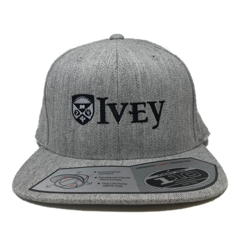 Ivey Adjustable Snapback Hat Cap Heather Grey