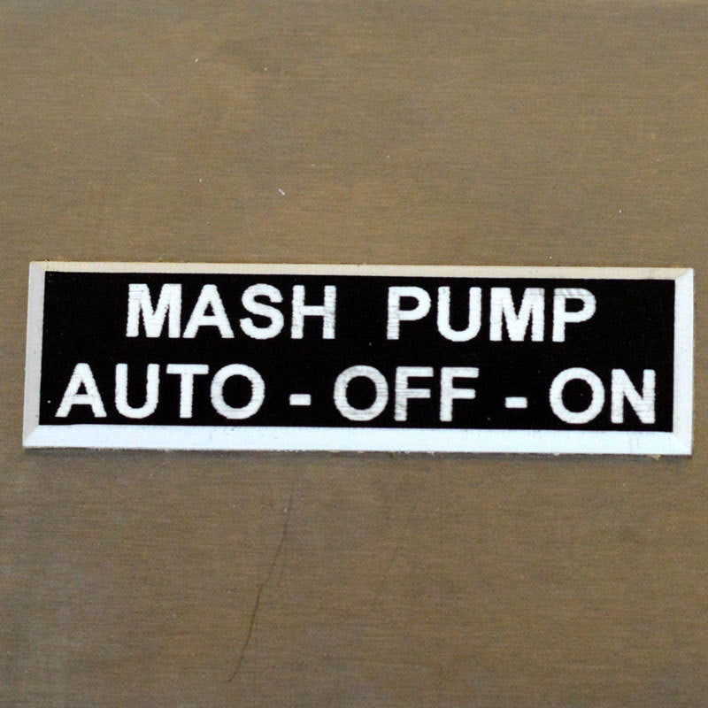 Panel Tags - MASH Pump / Auto - Off - On