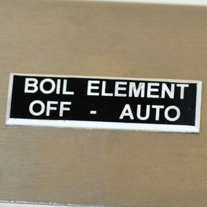 Panel Tags - Boil Element / Off - Auto