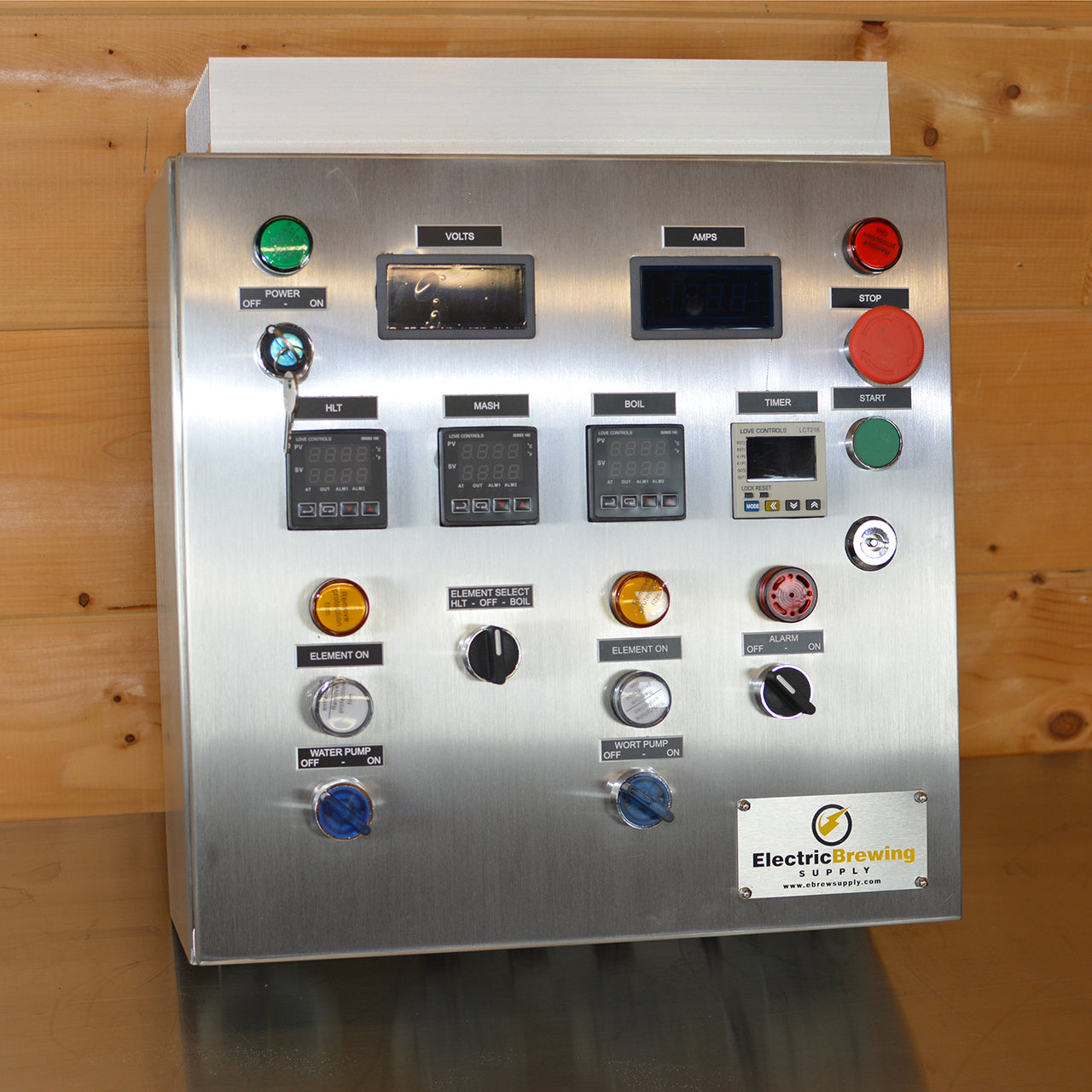 Add volt and Amp meters – Electric Brewing Supply