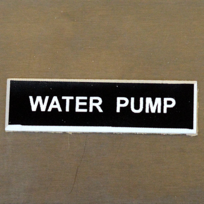 Panel Tags - Water Pump