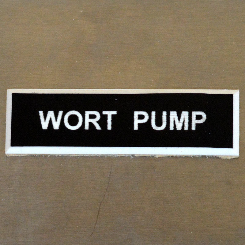 Panel Tags - Wort Pump