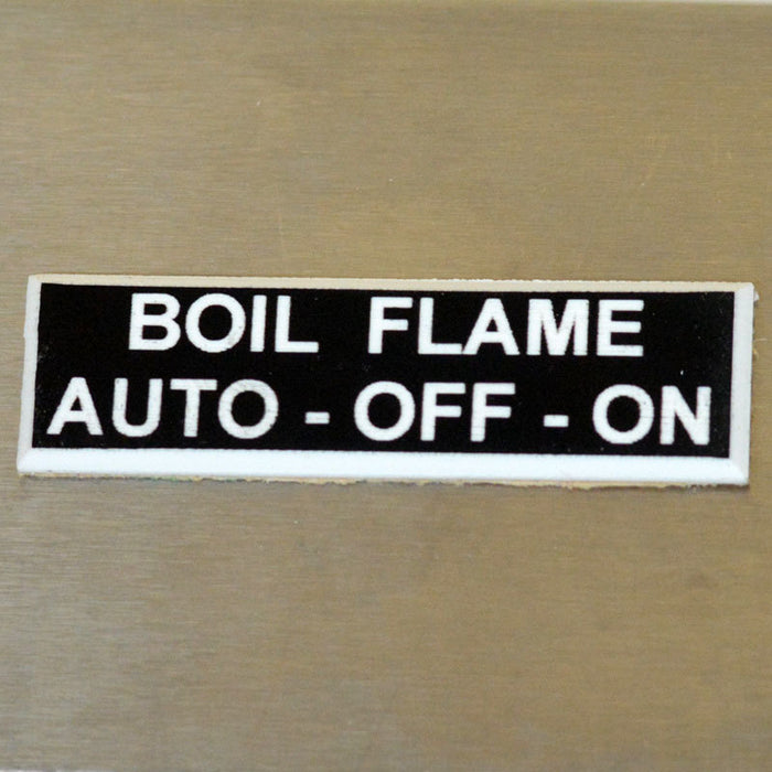 Panel Tags - Boil Flame / Auto - Off - On