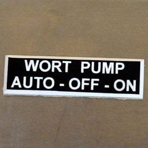Panel Tags - Wort Pump / Auto - Off - On