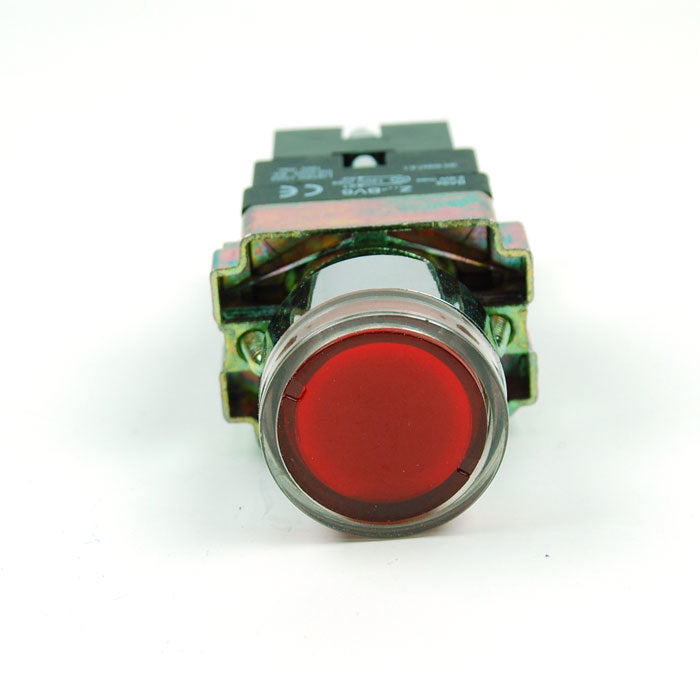 Red LED Push Button 2-way Switch