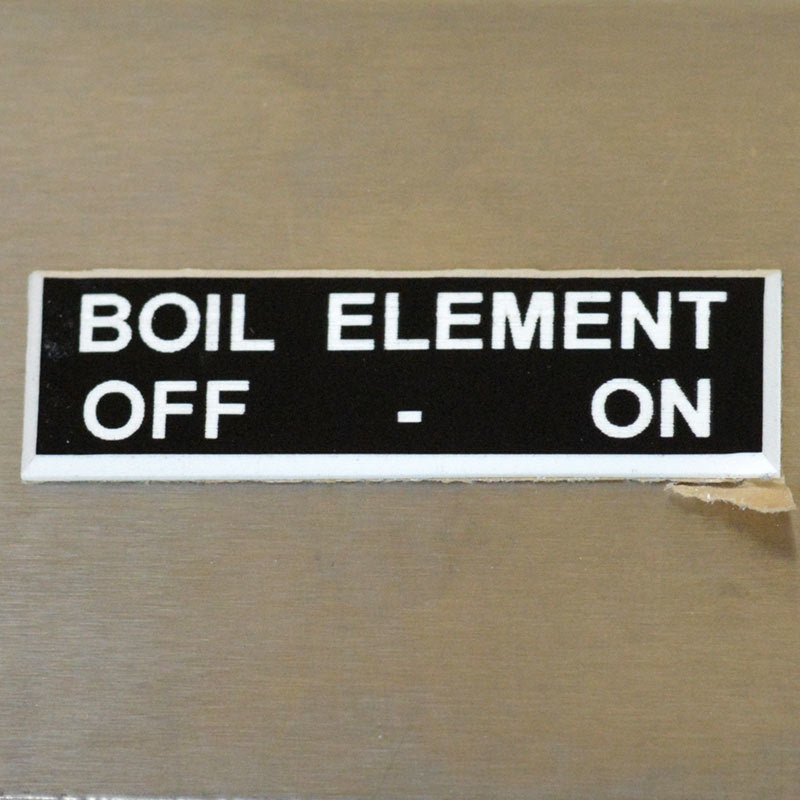 Panel Tags - Boil Element / Off - On