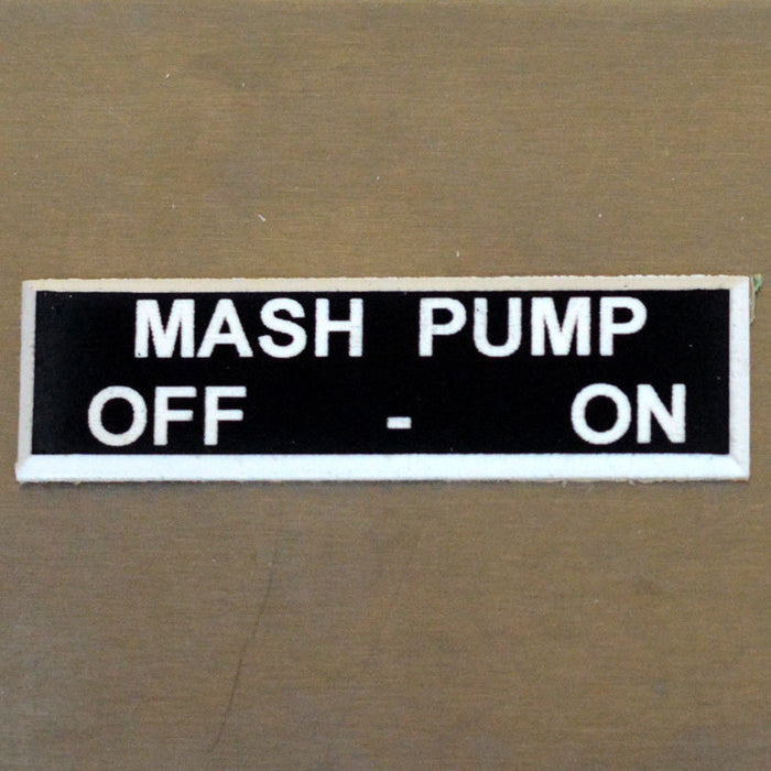 Panel Tags - Mash Pump / Off - On