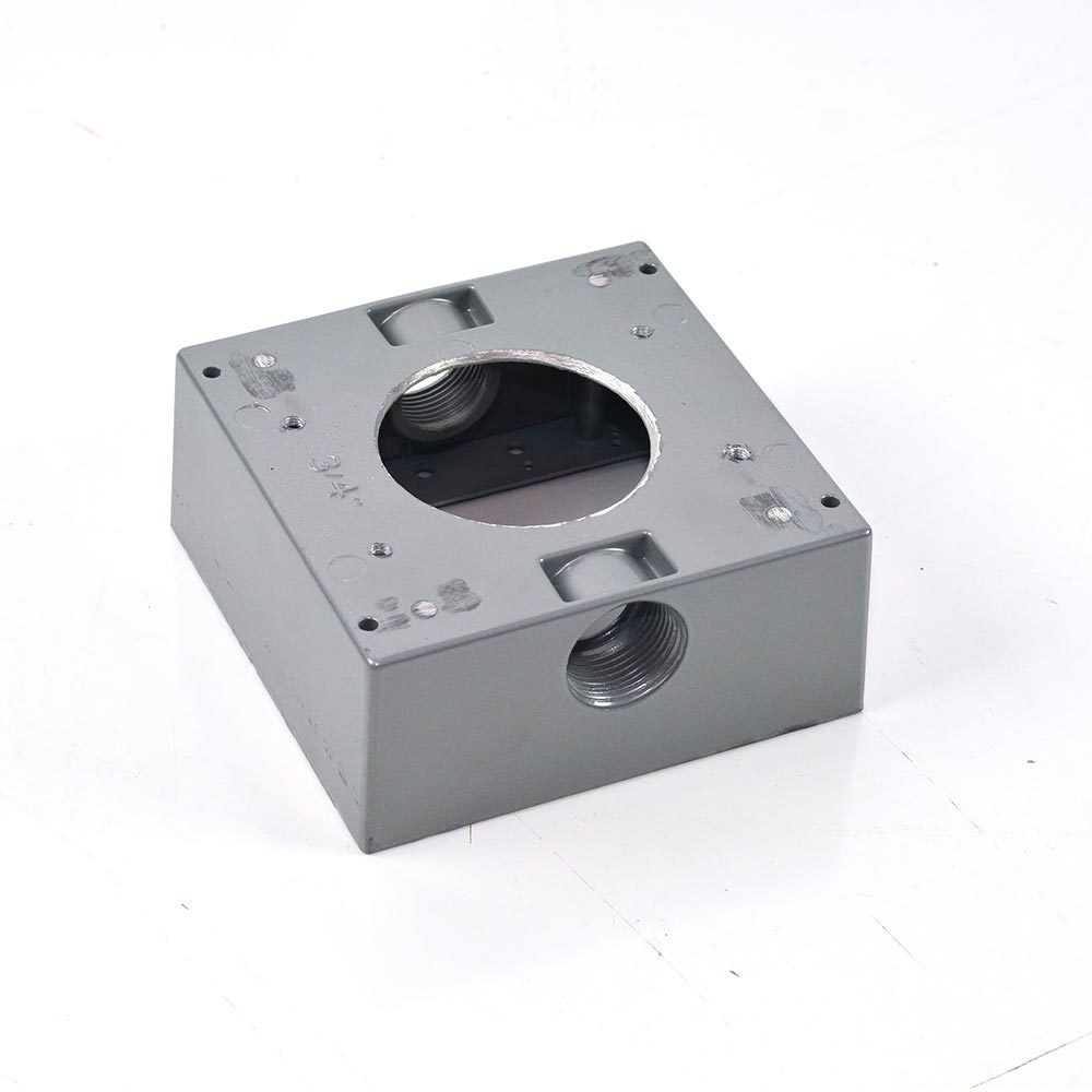 Pre-Cut 2 gang Aluminum Electrical Box
