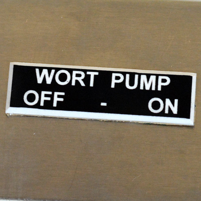 Panel Tags - Wort Pump / Off - On