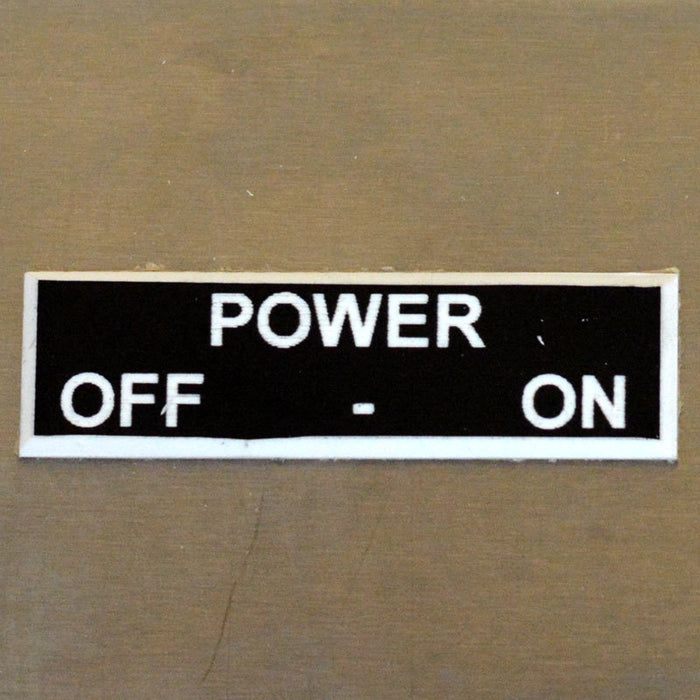 Panel Tags - Power / Off - On