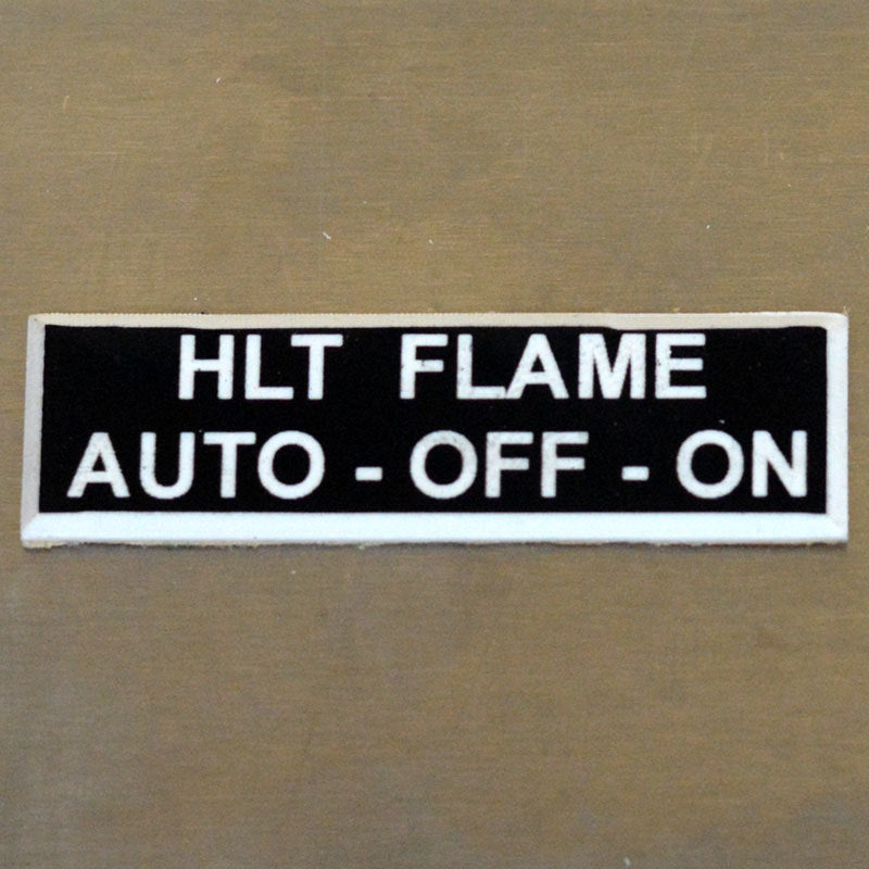 Panel Tags - HLT Flame / Auto - Off - On