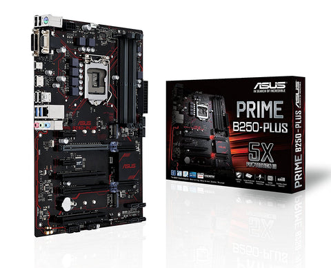 ASUS PRIME B250-PLUS Intel Compatible Motherboard for Desktop Computer/PC