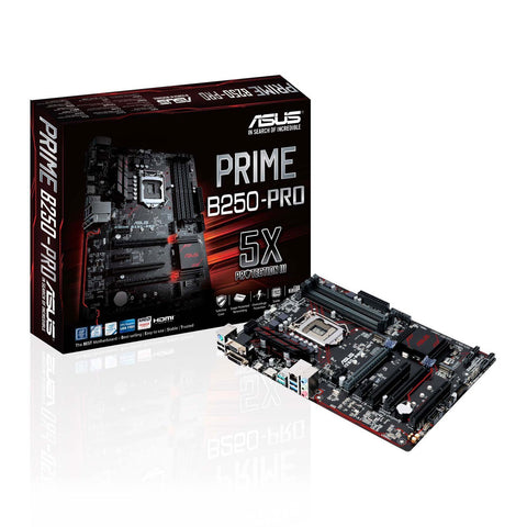ASUS PRIME B250-PRO Intel Compatible Motherboard for Desktop Computer/PC