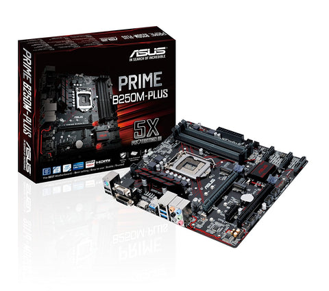 ASUS PRIME B250M-PLUS Intel Compatible Motherboard for Desktop Computer/PC