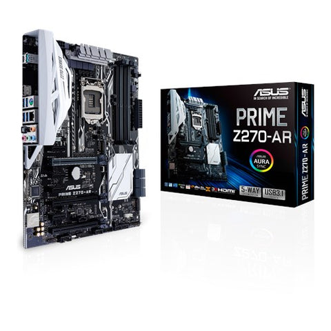 ASUS PRIME Z270- AR Intel Compatible Motherboard for Desktop Computer/PC