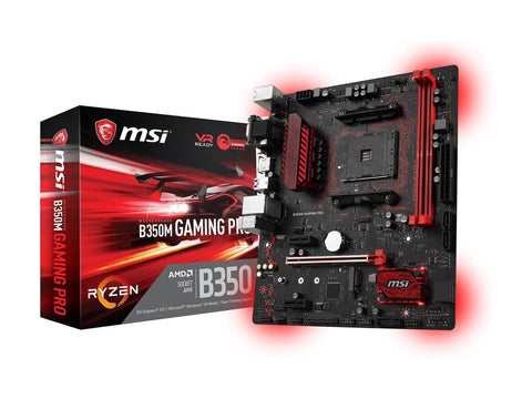 MSI B350M GAMING PRO AMD Compatible Motherboard for Desktop Computer/PC