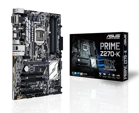 ASUS PRIME Z270-K Intel Compatible Motherboard for Desktop Computer/PC