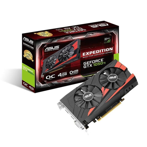 ASUS Geforce GTX1050Ti Expedition Edition 4GB DDR5 OC Dual Fan Graphics Card for Gaming PC