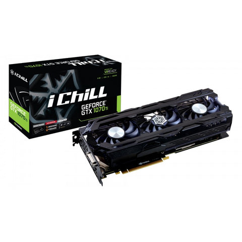 Inno3D GTX 1070 TI 8GB DDR5 (3FAN) Graphics Card for Gaming PC