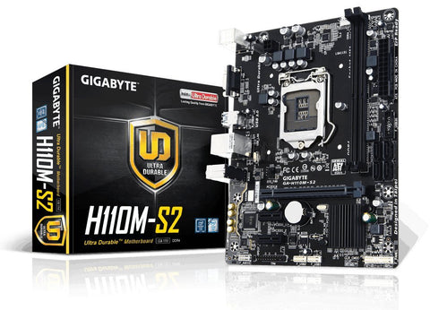 GIGABYTE H110M S2  Intel Compatible Motherboard for Desktop Computer/PC