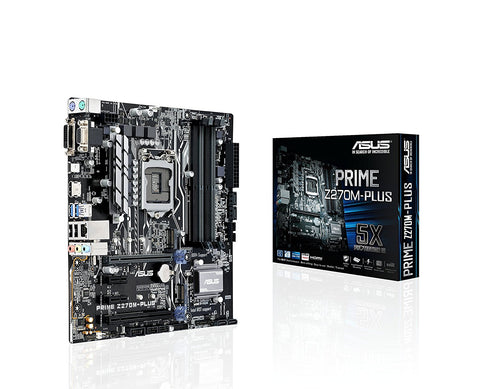 ASUS PRIME Z270M-PLUS Intel Compatible Motherboard for Desktop Computer/PC