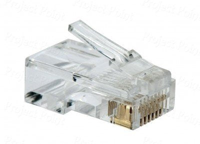 D Link Cat 5 RJ 45 Cable Connector - Pack Of 100 Pieces