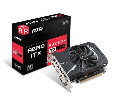 MSI RX 560 AERO ITX 4GB DDR5 OC Graphics Card for Gaming PC