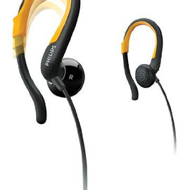 Philips SHS 4800 Earhook Headphones (Black/Yellow)