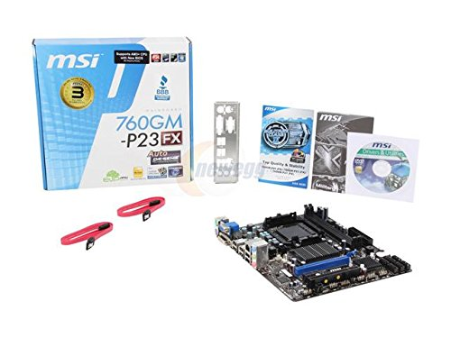 MSI 760GM-P23 FX AMD Compatible Motherboard for Desktop Computer/PC