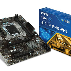 MSI H110M Pro-VHL LGA1151 Intel Compatible Motherboard for Desktop Computer/PC
