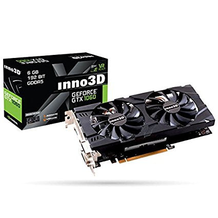 INNO3D GEFORCE GTX 1060 6GB DDR5 (DUAL FAN) Graphics Card for Gaming PC